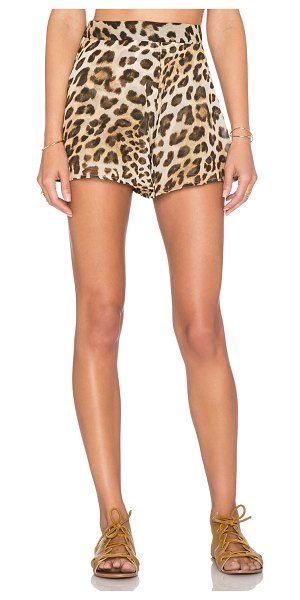 Show Me Your Mumu Carlos swing short in tan - 100% poly. Dry clean recommended. Shorts measure approx...