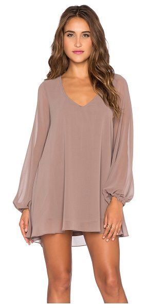 Show Me Your Mumu Donna michelle tunic in taupe - Poly blend. Dry clean only. Fully lined. Back cut-out...