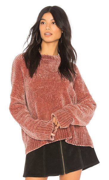 Show Me Your Mumu Jesse Sweater in mauve - Cotton blend. Hand wash cold. Rib knit trim. SHOW-WK23....