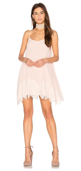 Show Me Your Mumu Lockett Lace Mini Dress in blush - Poly blend. Fully lined. Adjustable shoulder straps....