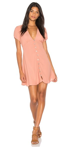 Show Me Your Mumu Robyn Babydoll Dress in mauve - Poly blend. Dry clean only. Unlined. Front button...