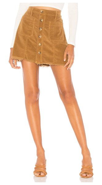 Show Me Your Mumu sedona skirt in stretch corduroy hazelnut