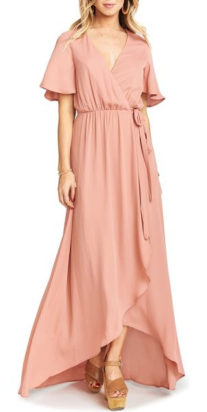 Show Me Your Mumu sophia wrap dress in rustic mauve - Floaty wrap styling highlights the ethereal nature of a...