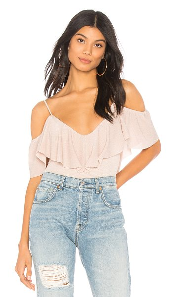 SHOW ME YOUR MUMU Tara Bodysuit - Nylon blend. Hand wash cold. Draped ruffle overlay....