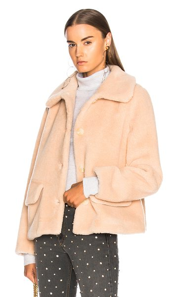 SHRIMPS Clyde Faux Fur Coat in neutrals,pink - Faux Fur: 45% wool 35% acrylic 20% poly - Lining: 65%...
