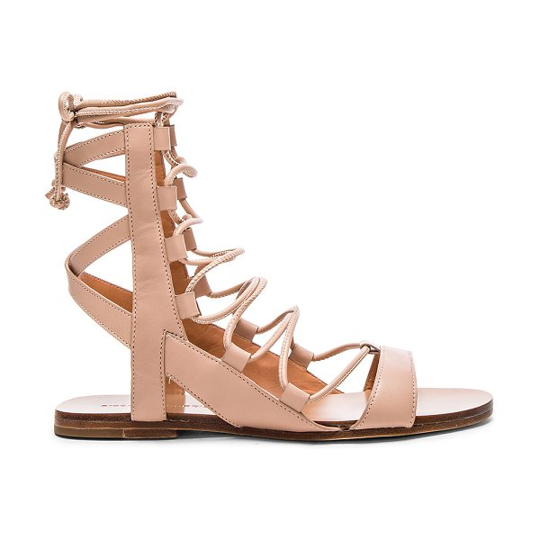 Sigerson Morrison Bunny in blush - Leather upper and sole. Lace-up front with wrap tie...