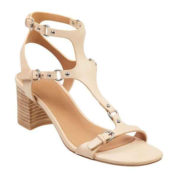 Sigerson Morrison Haven Leather Harness Sandals in tan
