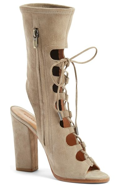 Sigerson Morrison linda lace-up sandal in taupe