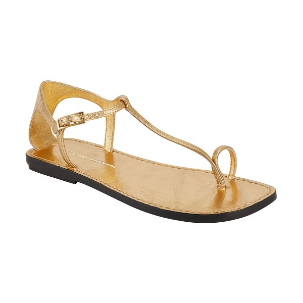 Sigerson Morrison Nelson Flat Sandals in gold