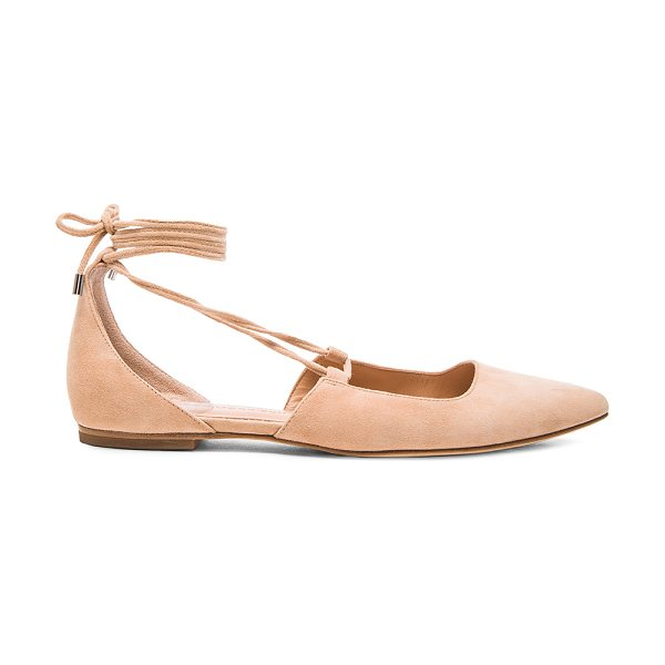 Sigerson Morrison Suede Sassy Flats in neutrals - Suede upper with leather sole.  Made in China.  Rubber...