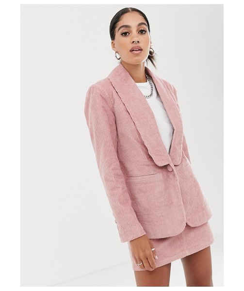 Signature 8 cord blazer-pink in pink