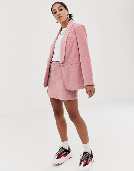 Signature 8 cord mini skirt-pink in pink