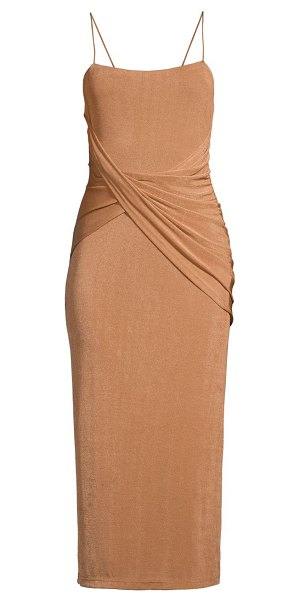 Significant Other evelyn twist-front midi dress in sand