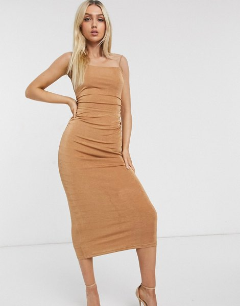 Significant Other neptune slinky maxi dress in sand-brown in brown
