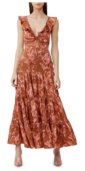 Significant Other soller tiered ruffle dress in chestnut palm