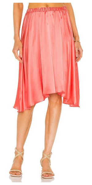 Silk Roads by Adriana Iglesias cira skirt in coral
