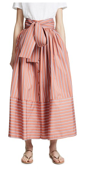 Silvia Tcherassi tomillo skirt in coral stripe - Fabric: Mid-weight weave Stripe pattern Maxi length...