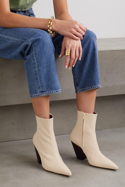 SIMON MILLER pack leather ankle boots in beige