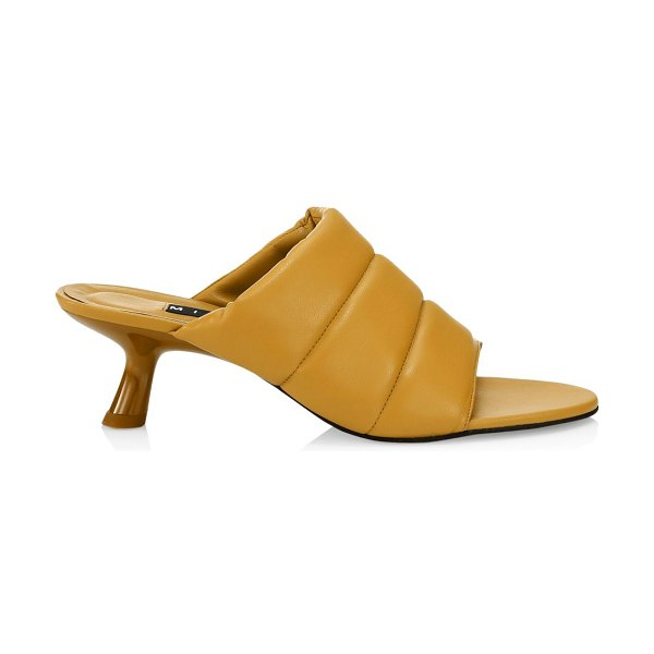 SIMON MILLER tee padded vegan leather mules in toffee