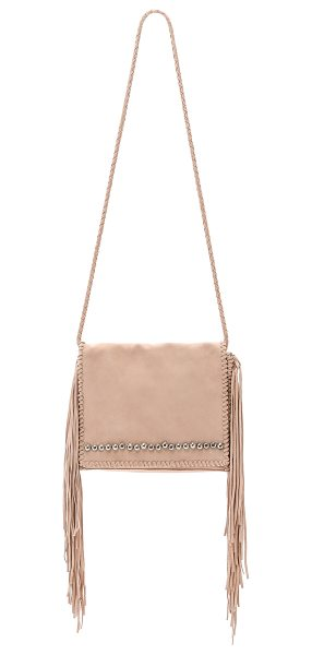 Simone Camille Ade messenger bag in ecru - Whipstitch trim and heavy fringe hang from the sides of...