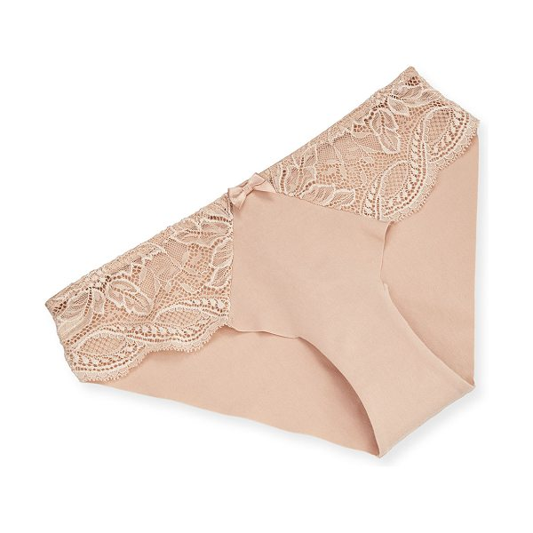 Simone Perele Eden Lace-Trim Bikini Briefs in peau rose