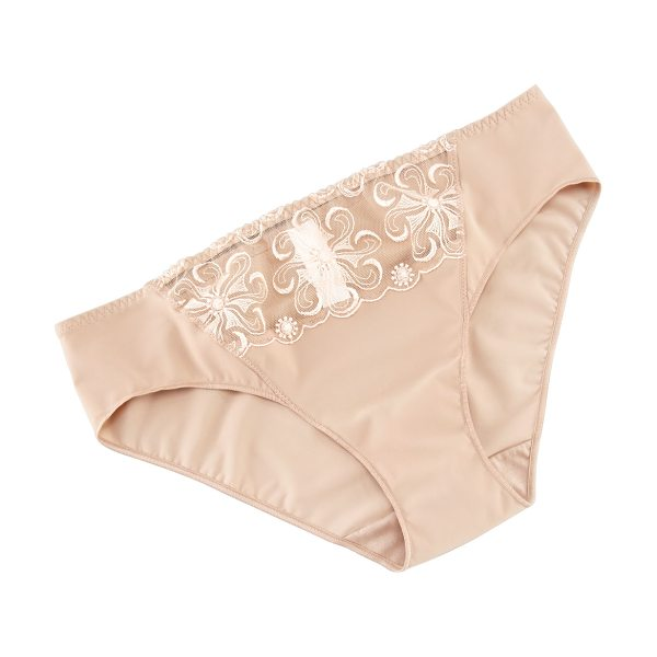 Simone Perele Revelation bikini briefs in nude - Stretch knit with sheer panel at front. Seamless design....