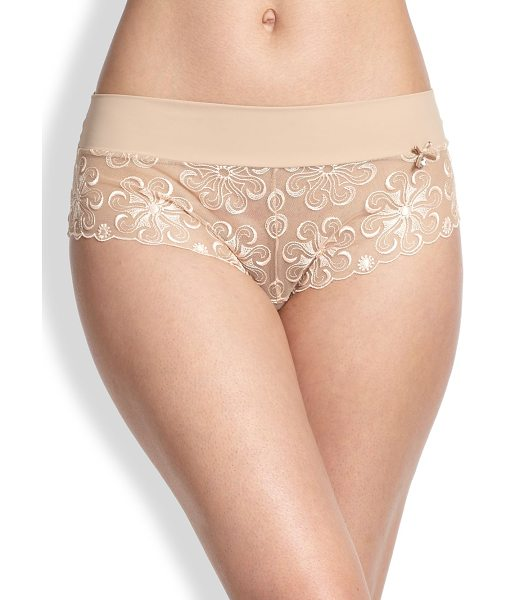 Simone Perele revelation boyshorts in nude - This full-coverage style is crafted with a versatile...