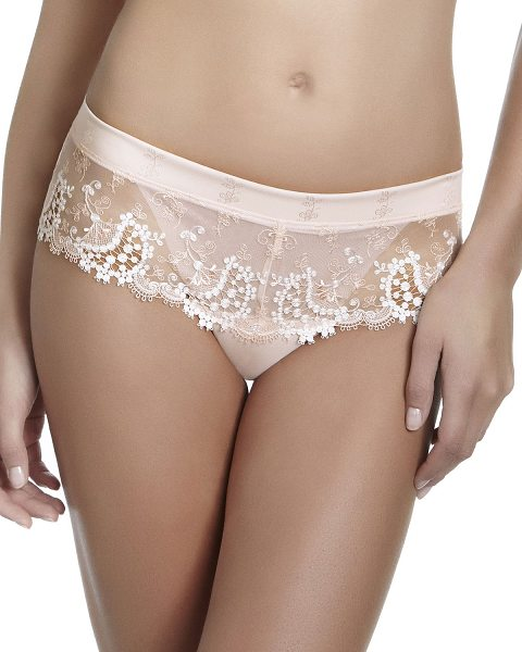 Simone Perele Wish floral-lace boyshorts in blush