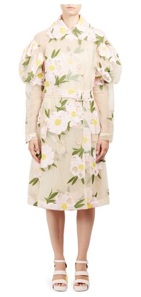 SIMONE ROCHA double breasted floral jacket - Semi-sheer design with beautiful floral embroidery....
