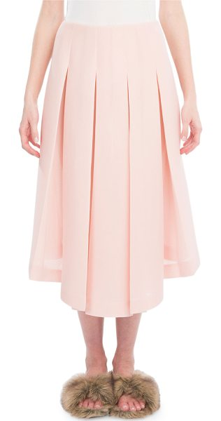 Simone Rocha Box-Pleated Midi Skirt in light pink - Simone Rocha midi skirt from the Fall 2017 Ready-to-Wear...