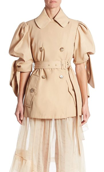 SIMONE ROCHA twill knotted sleeve jacket - Drawing from the Label's ladylike aesthetic with...