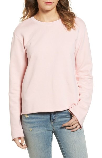 Sincerely Jules bell sleeve sweatshirt in rose - Raw edges highlight the swingy, trend-right bell sleeves...
