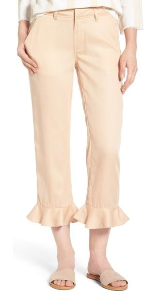 Sincerely Jules ruffle ankle trousers in pink - Versatile trousers in a soft, fluid fabric get a new...