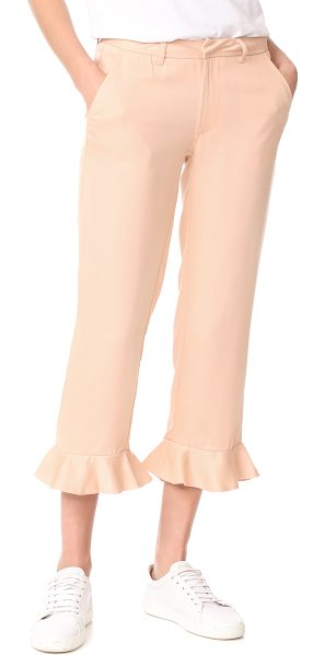 Sincerely Jules ruffle trousers in rose - These flirty Sincerely Jules cropped trousers are...