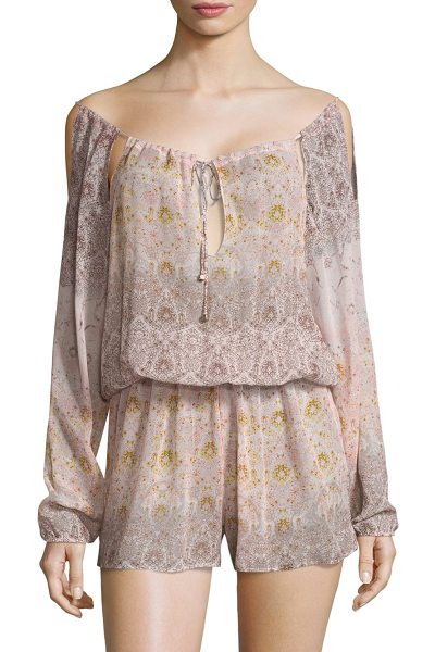 SINESIA KAROL maria silk romper coverup - Airy silk romper in artful mixed pattern....
