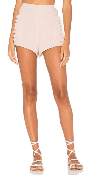 "SIR the label Alessa Short in blush - ""Self: 100% cottonLining: 55% linen 45% cotton. Hand..."