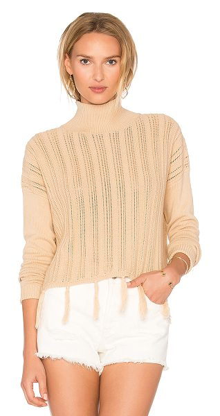 SIR THE LABEL Tane Fringe Sweater - 100% cotton. Hand wash cold. Knit fabric. Tassel trim....
