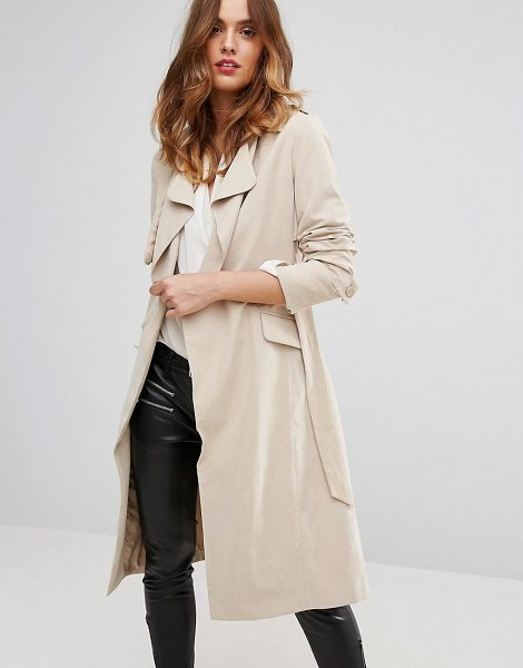 Sisley Belted Trench Coat in beige - Coat by Sisley, Super-soft-touch fabric, Fully lined,...