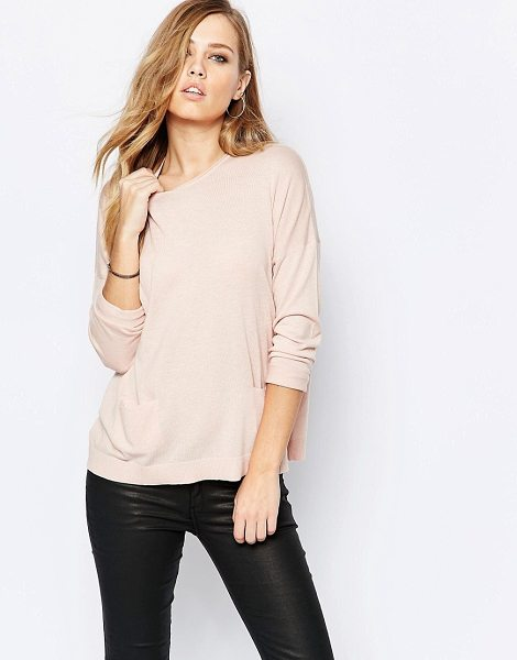 SISLEY Lightweight knit in soft pink - Sweater by Sisley Lightweight knit Round neckline...