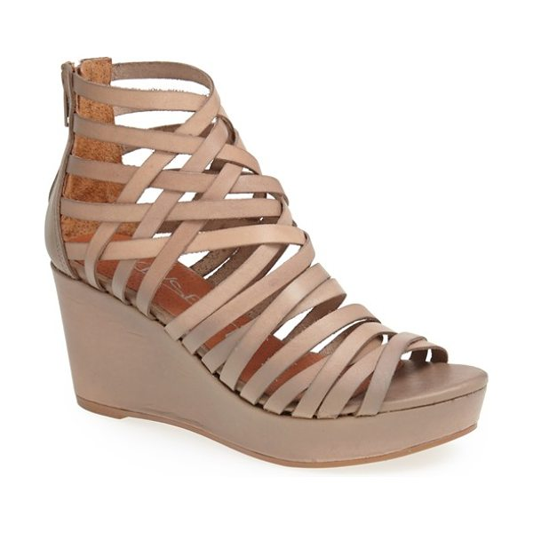 SIXTY SEVEN vanessa wedge sandal - A plethora of skinny leather straps wraps the foot and...