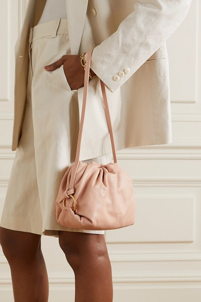 S.Joon baby bao gathered leather shoulder bag in sand