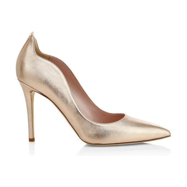 SJP by Sarah Jessica Parker cyrus point toe pumps in rose gold - Point toe pumps with curved edges finished in a...