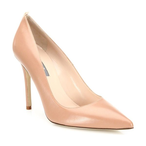 SJP BY SARAH JESSICA PARKER fawn leather point toe pumps - EXCLUSIVELY AT SAKS IN TAN. Timelessly classic point-toe...