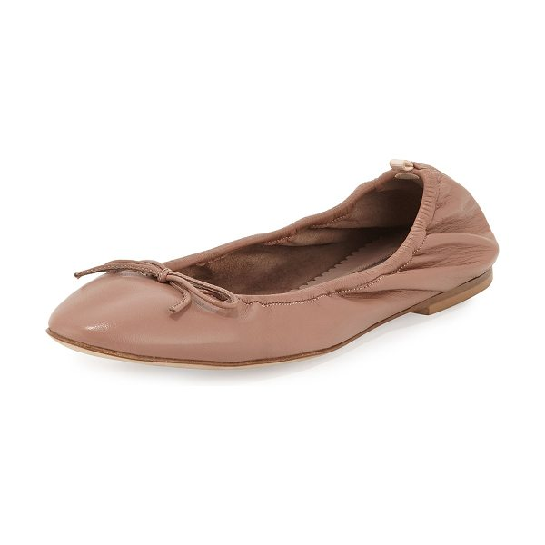 SJP by Sarah Jessica Parker Gelsey bow leather ballerina flat in nude - SJP by Sarah Jessica Parker napa leather ballerina flat....