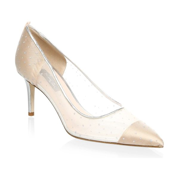 SJP BY SARAH JESSICA PARKER glass suede pumps in bronze - Leather pumps crafted as glass slippers. Covered heel,...