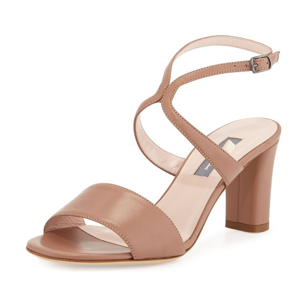 SJP by Sarah Jessica Parker Harmony Leather City Sandal in brown - ONLYATNM Only Here. Only Ours. Exclusively for You. SJP...