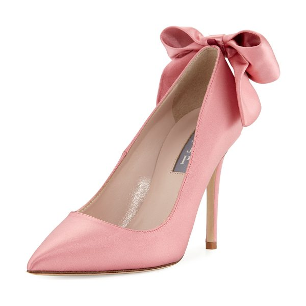 "SJP by Sarah Jessica Parker Lucille Satin Bow Pump in blush - SJP by Sarah Jessica Parker satin pump. 4"" covered heel...."