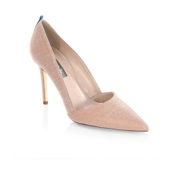 SJP by Sarah Jessica Parker rampling lame point toe pumps in pink - EXCLUSIVELY IN PINK LAME AT SAKS FIFTH AVENUE....