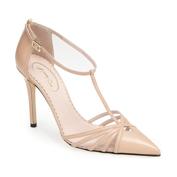 SJP by Sarah Jessica Parker carrie t-strap pump in nude - Carrie is obviously one of my favorite people, and this...