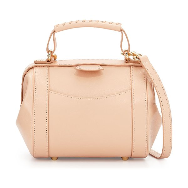 SJP by Sarah Jessica Parker Waverly hinged satchel bag in pink bisque - SJP by Sarah Jessica Parker leather satchel bag with...